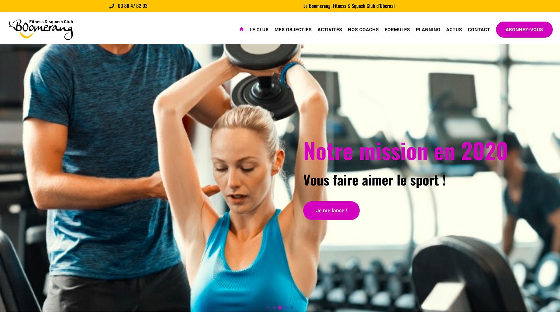 Fitness Boomerang Realisation Webcd Webcd